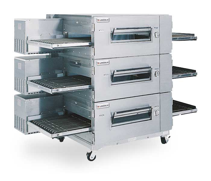 Impinger Low Profile 1600 Series Triple-Stack Gas Conveyor Ovens